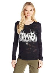 GWG: Girls With Guns Women's Buck Head Burnout, Medium, Black