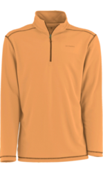 White Sierra Men's Techno Long-Sleeve 1/4 Zip T-Shirt - Apricot - Size: M