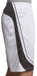 """ASICS Men's Player 10"""" Volleyball Running Shorts -White/Black -Size: Small"""