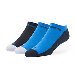NFL San Diego Chargers No Show Socks - 3-Pack - Blue - Size: Large