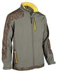 Yukon Gear Men's Windproof Softshell Fleece Jacket, Mossy Oak Bottomland, X-Large