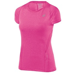 ASICS Women's Performance Run Short Sleeve T-Shirt -Ultra Pink Heather -S