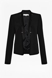 Emmeline Crepe Women's Jacket - Black - Size: 0