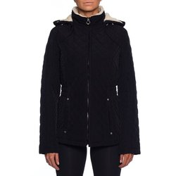 Laundry By Design Women's Corduroy Trim Quilted Jacket - Black - Size: S