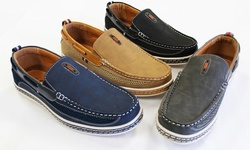 Frenchic Collections Men's Slip-On Loafers: Navy/11