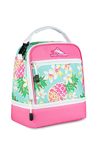 2043ab32ef750c High Sierra Lunch Bags Stacked Compartment - Pineapple/Pink - Check ...