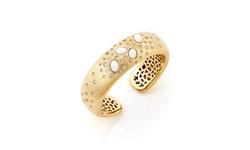 Rivka Friedman 18K Gold Plated Burnished Simulated Diamond Bracelet