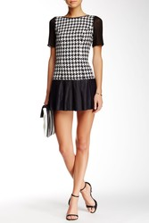 BCBGeneration Women's Houndstooth Dress - Black/White - Size: 12