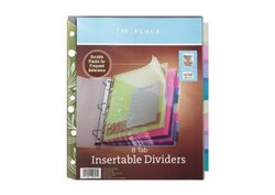 [In]place Pocket Insertable Plastic Dividers - 8-Tab