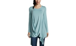 Stella Carakasi Long Sleeve Making Waves Tunic Top - Neptune - Size: Small