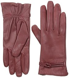 Isotoner Women's Fleece Lining Leather Gloves - Red - Size: Medium