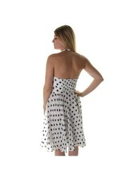 Betsey Johnson Women's Halter Polka Dot Dress - White Sapphire - Size: 6