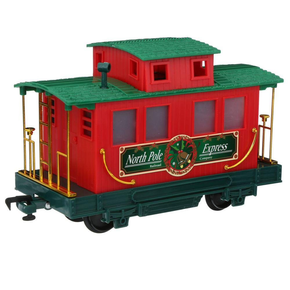 Eztec Wireless Remote Control North Pole Express Christmas Train Set ...