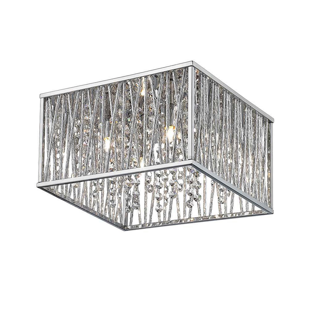 Home Decorators Collection 4 Light Chrome Flushmount 16648 Check Back Soon Blinq
