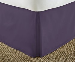 Home Collection Luxury Pleated Bed Skirt Dust Ruffle