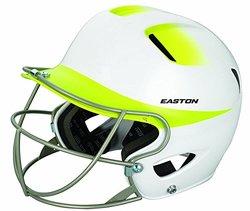 Easton Senior Natural 2Tone Batting Helmet - White/Yellow