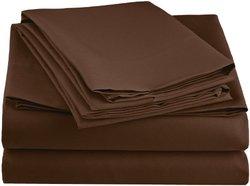Simple Elegance New York Microfiber Sheet Set: Full Size Chocolate 220C