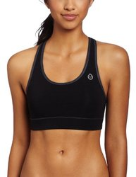 tasc Performance Endurance Mid-Impact Sports Bra TW200 Black-Gunmetal