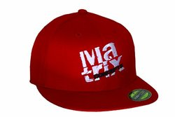 Matrix Concepts Stacked Hat, Small/Medium, Red