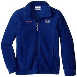 Boy's NCAA Florida Gators Flanker Full Zip Fleece - Azul - Size: Small