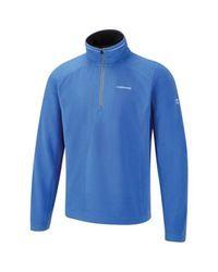 Craghoppers Men's Corey III Half-Zip Fleece Tops - Strong Blue - Size: S