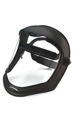 Uvex Bionic Face Shield with Clear PC Uncoated Visor - Matte Black