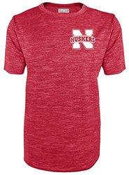 NCAA Nebraska Cornhuskers Men's SS Crew Neck Tee - Red - Size: Small
