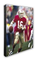 "NFL San Francisco 49ers Joe Montana Beautiful Gallery Quality, High Resolution Canvas, 16"" x 20"""