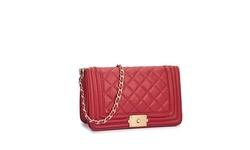 Sloann Large Quilted Shoulder Bag - Red