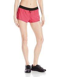 Mizuno Running Women's Firefly 2.5 Shorts, Rouge Red-Black, Medium