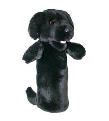 The Puppet Long Sleeved Labrador Boy Girl Glove - Black - Size: 4 Yrs & Up