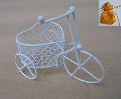 Siamproviding Handmade Flower Basket Storage Container - Metal Wire Weave