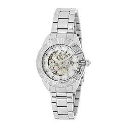 Empress Godiva Ladies Watch: EM1101 Silver Band-Silver Dial