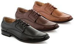 Franco Vanucci Men's Lace Up Dress Shoes - Black - Size: 10