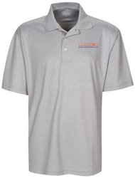 NCAA Clemson Tigers Men's Cross Hatched Embossed Polo Shirt - Ice - Size: Small