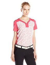 adidas Golf Women's Tour Bonded Mesh Polo Shirt - Raspberry Rose - Sz: L