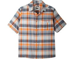 Mountain Khakis Men's Tomahawk Madras Shirt, Cantaloupe/Multicolor, Small