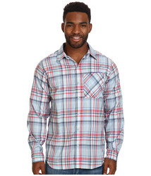 Columbia Men's Insect Blocker Plaid Long Sleeve Shirt - Sunset Red / XL