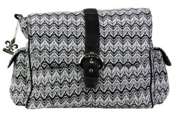 Kalencom Buckle Bag A Step Above: Ripples Black & White