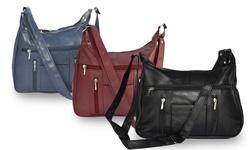 Afonie Women's Soft Genuine Leather Purse - Blue