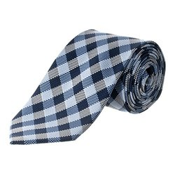 Republic Men's Woven Microfiber Tie - Checkered-Blue