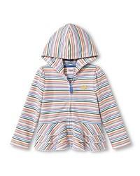 Circo Toddler Girls Striped Peplum Ruffle Hoodie - Multi - Size: 2T