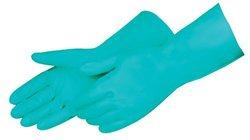 "Liberty 2980SL Nitrile Liquid Proof Unsupported Glove, Chemical Resistant, 11 mil Thickness, 13"" Length, Medium, Green (Pack of 12)"