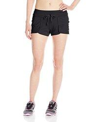 ASICS Women's Studio Flex Shorts, Performance Black, X-Large