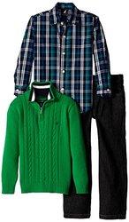 Nautica Little Boys' Set Woven Sweater/Denim Pant - Spartan - Size: Large