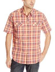 Royal Robbins Men's Summertime Plaid Short Sleeve Shirt, Brick, Medium