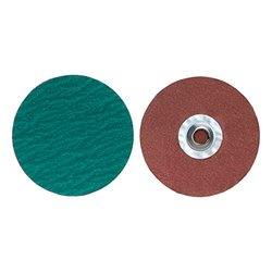 "Power-Lock Turn-On Coated Discs - 3"" type 2 80-grit zirc plus power-lock"