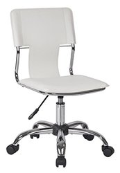 Avenue Six CRN26-WH Carina Task Chair in Vinyl white
