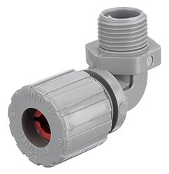 "Hubbell NHC1021CR Kellems Wire Management Cord Connectors, 90 Degree Male, Nylon, 1/2"" Hub, 0.19-0.25"" Diameter"
