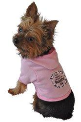 Ruff Ruff & Meow Dog Hoodie - Pink - Size: M